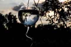 LR_09. Juni 2016_194150 (waldweg72) Tags: sky wasser glas reflektionen spieglung wasserglastest