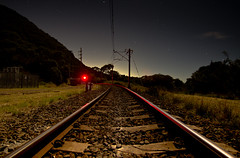 Railroad through Clifton, NSW (PhilliB123) Tags: road park bridge sea sky cliff moon night canon photography coast south sydney royal rail full tokina national nsw coastline clifton t3i 600d 1116mm
