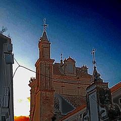 Campanario Carmona (jmerelo) Tags: sevilla andaluca churches sev hdr storks carmona cigeas campanarios
