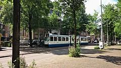 Summerschool (Peter ( phonepics only) Eijkman) Tags: city holland netherlands amsterdam transport nederland tram rail bn rails trams strassenbahn noordholland gvb streetcars nederlandse 12g trapkar