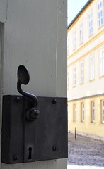 Open church door (:Linda:) Tags: church germany town thuringia doorhandle opendoor christuskirche hildburghausen formerschool