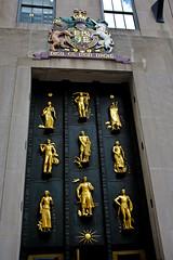 Rockefeller's Door (k4eyv) Tags: door newyorkcity newyork gold rockefellercenter fujix100s