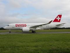 Swiss                          Bombardier CS100                          HB-JBA (Flame1958) Tags: swiss dub dublinairport bombardier 2016 swissairlines 0616 cs100 eidw deliveryflight 300616 bombardiercs100 swisscs100 hbjba swissdeliveryflight