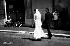 Rome (AndyCrutt) Tags: street wedding blackandwhite bw italy woman man rome roma art byn blancoynegro monochrome beauty mono groom bride italia noir noiretblanc streetphotography bn monochrom andycrutt