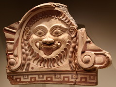 fragmentary roof ornament with Medusa (matthew_ropp) Tags: museum unitedstates gettyvilla