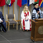 "<b>Commencement 2015</b><br/> Dr. Carlson introduces commencement speaker, Mike Danforth. Commencement 2015. Photo by Aaron Lurth<a href=""http://farm8.static.flickr.com/7791/18386522265_55acbdc0d7_o.jpg"" title=""High res"">∝</a>"