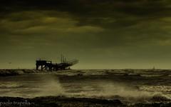 i trabucchi (paolotrapella) Tags: beach water canon italia mare acqua spiaggia chioggia trabucchi