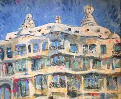 LA PEDRERA DE GAUD EN ACRLICO (FERRAN-ART) Tags: paisajes mar sketch bowie arte gente lagos retratos ros dibujo pintura montaas acuarelas exposiciones acrlicos leos