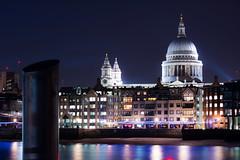 Saint Paul - Night (Matthieu Manigold) Tags: from reflection london saint thames night river paul nikon colours nightshot nuit