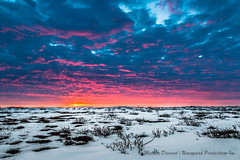 Sunset on the melting tundra-7964 (Mathieu Dumond) Tags: blue sunset red sky orange snow canada colors clouds landscape spring melting purple may dramatic arctic nunavut willows tundra kugluktuk mathieudumond umingmakproductions