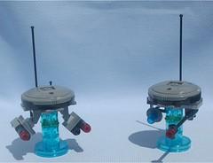 Death Drones, revised (Mantis.King) Tags: lego scifi futuristic mecha wargames mech floater moc microscale legomecha mechaton mfz mf0 mobileframezero legogaming