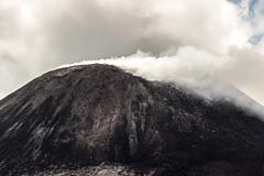Pulau Anak Krakatau (Xruuovtb) Tags: black clouds contrast canon indonesia volcano java smoke ashes crater summit strait sunda krakatau efs1585 eos600d