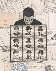 June 9th los dias contados (kurberry) Tags: collage hats chapeaux vintageephemera collageaday losdiascontados