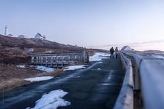walking along Cape Spear, Newfoundland (tuanland) Tags: sunset sky lighthouse canada newfoundland landscape evening spring nikon path stjohns clear trail nfld atlanticcanada capespear fench d600 avalonpeninsula newfoundlandandlabrador nikond600