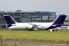 Double Belgian (Al Henderson) Tags: england rj unitedkingdom aircraft aviation bedfordshire gb bae airliner avro cranfield rj85 regionaljet brusselsairlines egtc oodjs e2292 gchdt falkoregionalaircraft