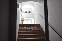 Offenbarung 21 (Katholische Kirche Vorarlberg) Tags: schrift convent bibel kloster bludenz stpeter schriftzug dominikanerinnen offenbarung21 sehtichmacheallesneu