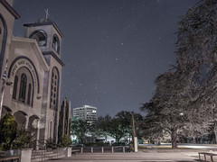 Telopea Park (East) Street - Under a Starry Sky - Kingston - Canberra - ACT - 20160517 @ 05:36 (MomentsForZen) Tags: street sky church night dark stars au australia southerncross hasselblad barton lightroom pointers milkyway greekorthodoxchurch australiancapitalterritory hasselblad500cm greatrift coalsacknebula momentsforzen hasselbladcfv50c