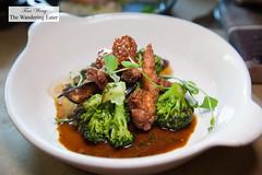 Broccoli, black turnip, lamb sweetbreads (thewanderingeater) Tags: atlanta georgia brunch buckhead holemanfinch