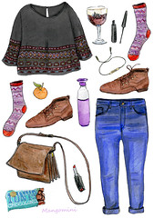 2015 December -Cindy Mangomini (Cindy Mangomini) Tags: winter beer socks illustration watercolor drawing chocolate jeans watercolour redlipstick waterbottle eyeliner handdrawn tonyschocolonely whatiwore personalstyle fashionillustration fashiondrawing dopper fashiondiary winterstyle fashionblogger illustratedlife mangomini cindymangomini whatiworeindrawings