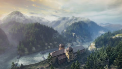 VOEC - 046 (Screenshotgraphy) Tags: sunset sky mountain lake game nature colors architecture clouds contrast montagne landscape pc screenshot lumire couleurs country lac ethan steam gaming ciel beaut carter concept nuages paysage vanishing campagne beautifull jeu naturelle urbain