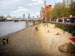 Yards of Golden Beaches (garryknight) Tags: london beach mobile thames river nokia phone cellphone southbank gabrielswharf waterside foreshore lightroom lumia930 ononephoto10