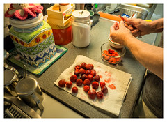 Preparation - 2015 (Patricia Colleen) Tags: ross interior strawberries mykitchen