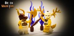 Gold Horns & Brown Minotaur (BrickWarriors - Ryan) Tags: brickwarriors custom lego minifigure weapons helmets armor minotaur brown pearl gold horns ram deer antlers scroll boot wings medieval fantasy greek mythology castle axe gladiator bone spear