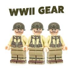WWII Gear (Minifigs'R Us) Tags: lego ww2 americans