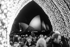 Cathedral of Light (Leighton Wallis) Tags: lights arch sony sydney vivid australia 55mm nsw newsouthwales alpha f18 sydneyoperahouse 2016 mirrorless a7r vividsydney emount ilce7r vivid2016