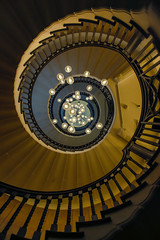 Heal's & Sons Spiral Staircase London (2) by Simon & His Camera (Simon & His Camera) Tags: city london geometric architecture stairs composition circle spiral lights pattern indoor lookingup round iconic vignette simonandhiscamera