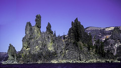 Phantom Ship (woodchuckiam) Tags: sky lake water oregon landscape island nationalpark scenic caldera craterlake phantomship craterlakenationalpark andesiterock woodchuckiam