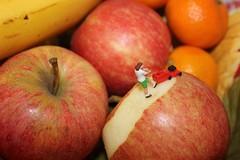 An Apple a Day (amanda_shirlow) Tags: macro apple scale photography miniature little small mini humour micro gardiner ho littlepeople tinypeople miniatureworld hoscale lilliput preiser microworld tinyworld microworlds