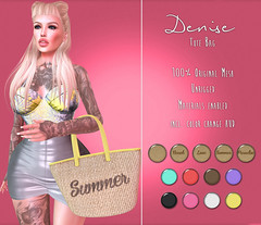 Denise Tote Bag @ TBDP (Deb3ie Resident) Tags: summer love beach colors fashion pose bag 3d paradise mesh events sl event secondlife hud tote exclusive secondllife unrigged