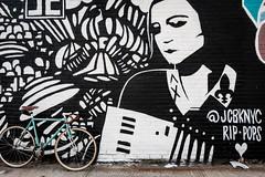 New York Street Art (jomak14) Tags: bianchipista gf2 lumixgvario1442f3556 newyork panasonic streetart wheremybiketakesme 2016 wellingcourtmuralproject