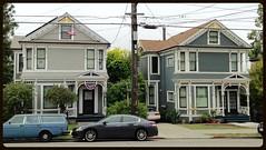 Twins (Melinda ....) Tags: victorian houses twins berkeley painted baywindows california pediment spindles gables brackets stickstyle