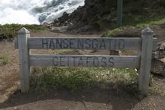 Goafoss, Iceland (Tiphaine Rolland) Tags: water sign waterfall iceland nikon eau falls 1855mm 1855 cascade panneau islande 2016 goafoss d3000 nikond3000