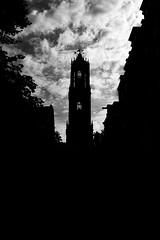 Domtoren (miguel_lorente) Tags: street city blackandwhite bw black holland building tower netherlands clouds utrecht domtoren bnw