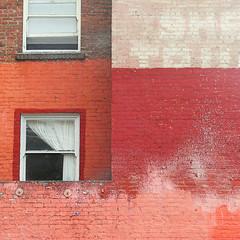 surf's up (msdonnalee) Tags: brick window sign ventana fenster curtain ghost masonry finestra brickwall brique janela fentre brickbuilding