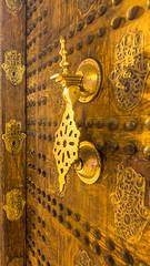 Artisan door @ medina - Marrakech (PaulHoo) Tags: marocco city urban detail artisan gold door lumix 2016 craftmanship doorhanger medina marrakech