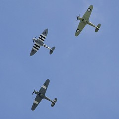 VE70 Spitfire Hurricanes (ianwyliephoto) Tags: london hurricane flight spitfire whitehall horseguards 70thanniversary veday flypast battleofbritainmemorialflight victoryineurope ve70 rafbbmf