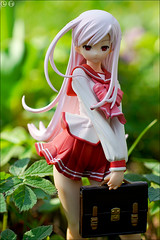 Spring was somewhere (gwennan) Tags: anime color macro cute green nature colors japan closeup toy spring walks maria figure figures pvc toheart2 jfigure goodsmilecompany misoralucymaria