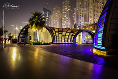 When the Light turn on... (hisalman) Tags: longexposure light building night canon lights dubai low jbr 70d