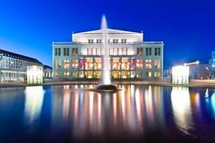 Augustusplatz Leipzig am Abend (FSEID) Tags: abend leipzig augustusplatz oper uniriese cityhochhaus krochhochhaus
