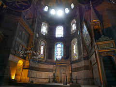 Hagia Sophia interior (jenny_guo) Tags: travel turkey ancient interior istanbul mosque historic lx100