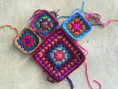 The future practically perfect granny square bag begins to take shape (crochetbug13) Tags: crochet crocheted crocheting crochetsquares crochetsquare grannysquare grannysquares crochetpurse crochetbag crochettote grannysquarebag grannysquaretote grannysquarepurse fabriclining