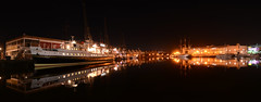 Bristol Harbourside (sgreen757) Tags: street city panorama water beautiful beauty night reflections bristol nikon long exposure waterfront centre reflected princes hsbc balmoral harbourside stiched d7000