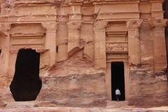 Petra, Jordan (pepperinmyteeth) Tags: city travel pink red vacation building rose rock architecture facade dark walking lost greek jones carved ancient sandstone ruins desert roman decay petra ruin middleeast indiana tourist arabic east jordan arab arabian middle destroyed wadi musa decaying entering crumbling bedouin levant lastcrusade nabatean wadimusa