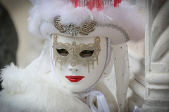 Venice Carnival (m-i-v) Tags: carnival venice red portrait italy woman white face hat costume dress mask glove venezia