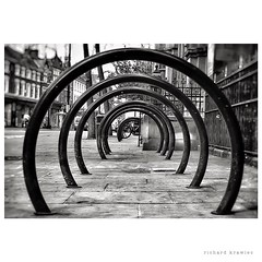 Stargate... in Friargate (RichardK2010) Tags: blackandwhite abstract monochrome lines dof circles stargate zuiko depth circularity penf friargate olympuspenf wardwick microfourthirds snapseed 17mmf18
