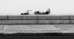 Relaxin' on the Malecn (Dalliance with Light) Tags: ocean girls portrait bw monochrome wall cu havana cuba seawall reclining habana malecn lahabana